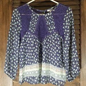 Love Fire 3/4 long sleeve blouse